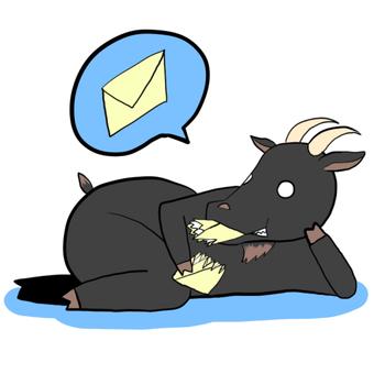 一隻黑山羊