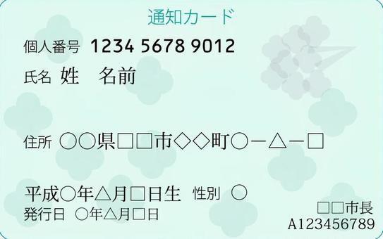 我的號碼卡通知卡面