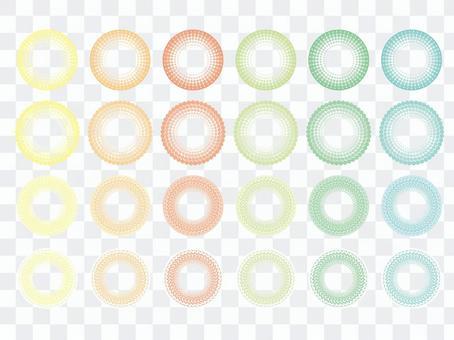 點球點背景(7)圓集:粗糙