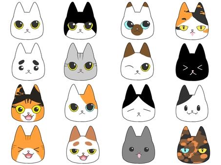 16種貓圖標
