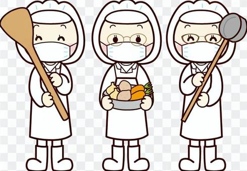 女學校午餐廚師(面具)