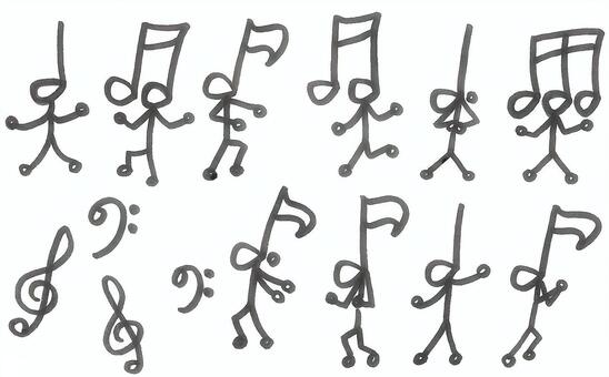 Dance of a note note dance