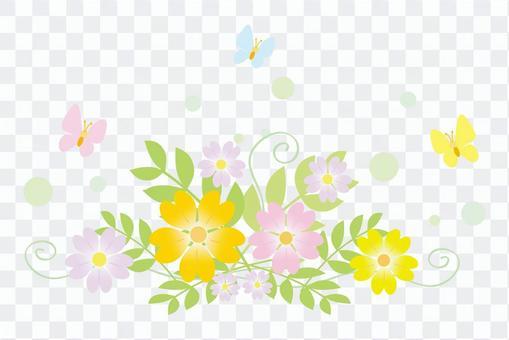 봄 꽃과 나비