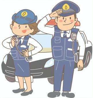 兩個警察(有背景)