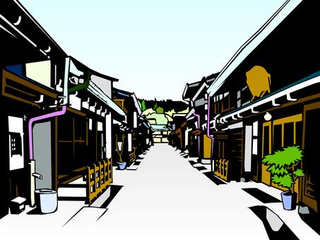 高山市上野町街景