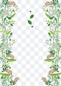 手繪樹葉的時尚框架