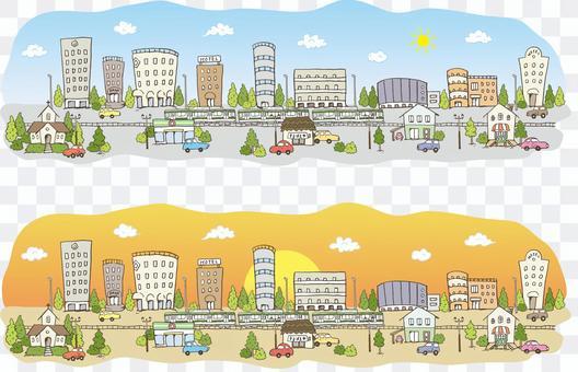 城市景觀_日和日落