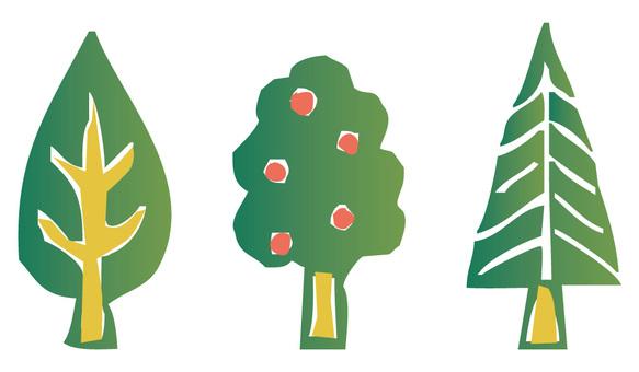 郵票式的樹
