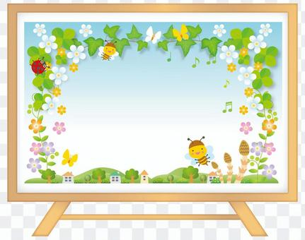 Background and frame of spring breathing