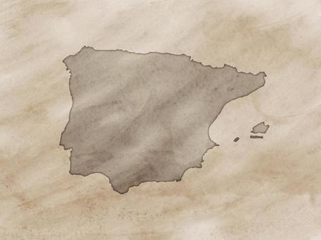 西班牙地圖舊地圖樣式