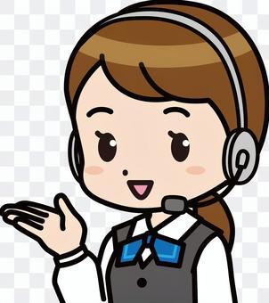 女操作員指導(收入顏色變化)