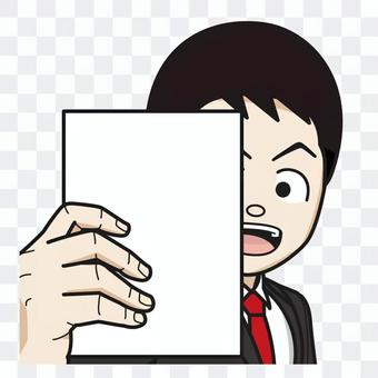Office worker holding a book (male) 09