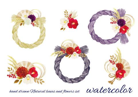 水彩 shimenawa 裝飾品