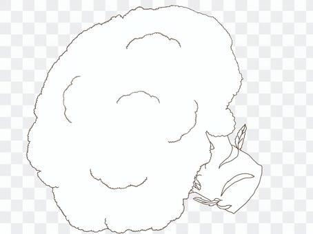 ブロッコリーの線画