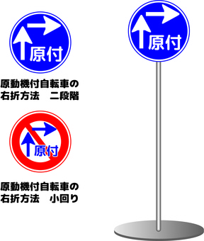 Signs Road signs Motorized bicycles Moped