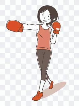 拳擊手大小女人