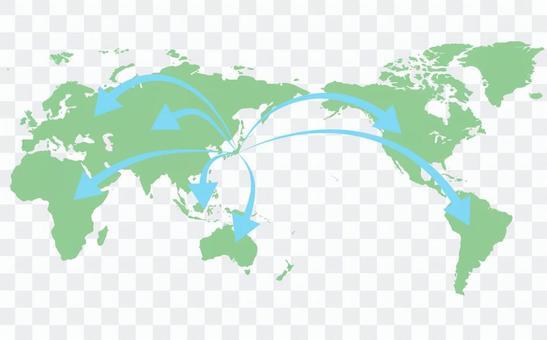 世界地圖③