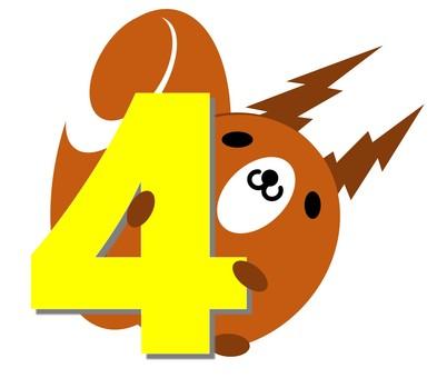 松鼠和數字