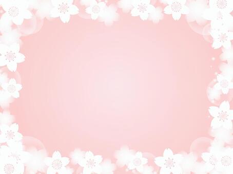 櫻花花卉裝飾框架7