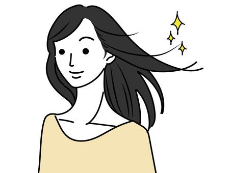 美麗的頭髮的女人