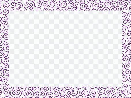 당초 무늬 프레임 3