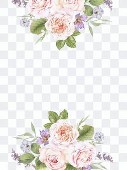 花框架207  - 與玫瑰色的玫瑰花框架