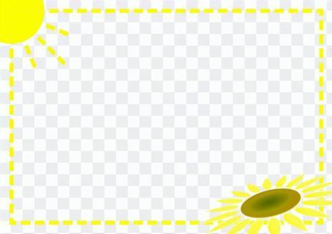 ひまわりと太陽のフレーム