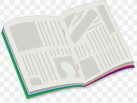Weekly magazine opened