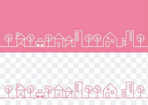 Town Parallel Line Pink Spring