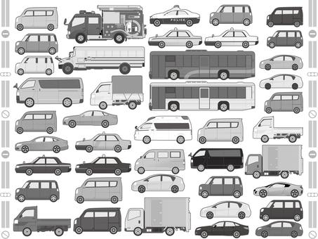汽車插圖集單色集