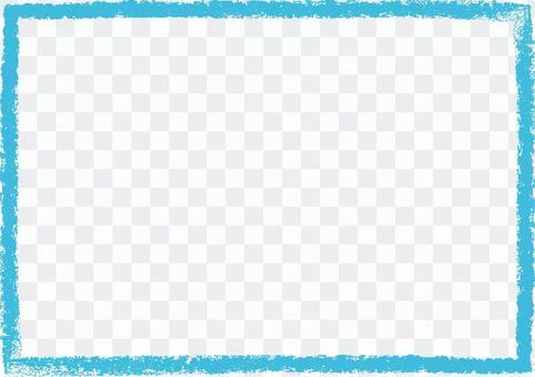 蠟筆觸摸框藍色