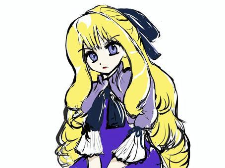 金髪の少女(怒)