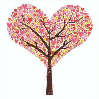 有心的樹粉紅色的版本