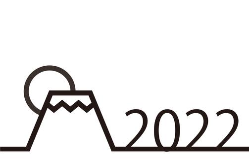 7_新年賀卡(線,日出,黑色,水平)