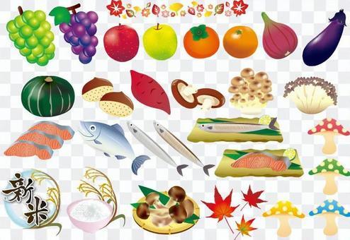 秋天的味道水果魚盤POP套