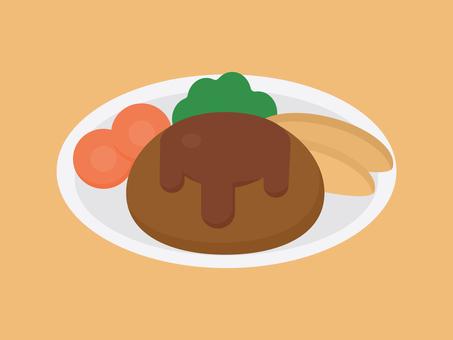 簡單可愛的漢堡圖