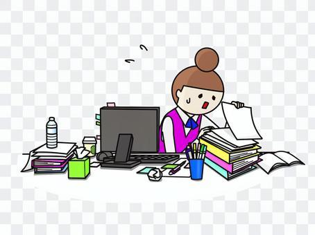 OL尋找凌亂的辦公桌
