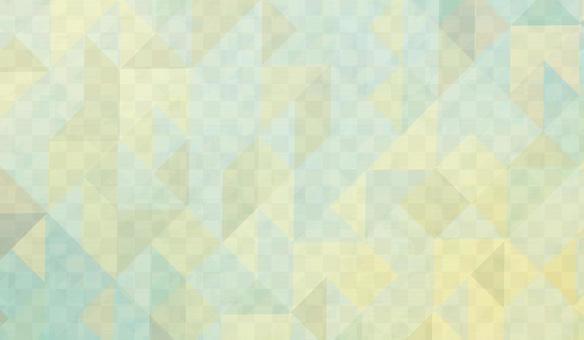 三角形圖案背景黃色和綠色