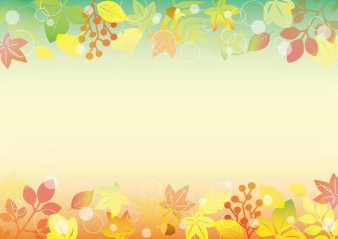 秋天留言卡_綠色&橙色