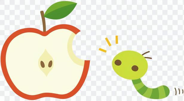 吃了一半的蘋果和土豆