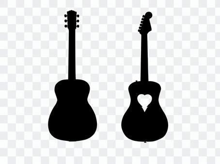 吉他剪影4