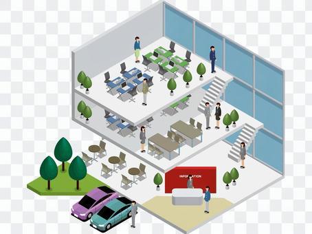 オフィスビルのフロアマップ