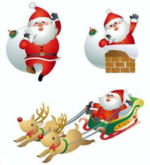 聖誕老人3姿勢