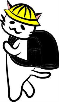 Nyanko和書包(黑色)