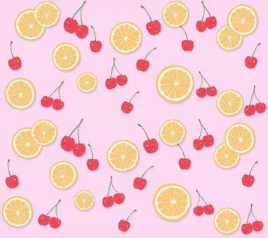 フルーツ柄_Pink