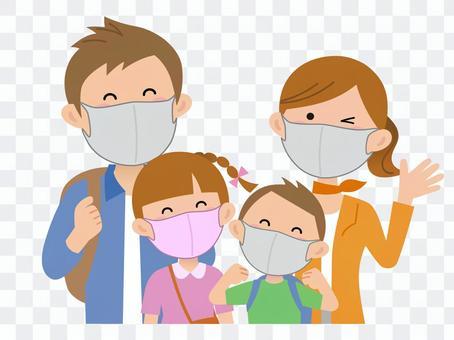 200919.家族旅行,マスク着用