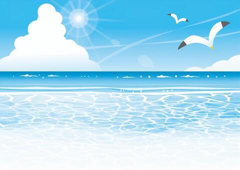 Summer sea scenery