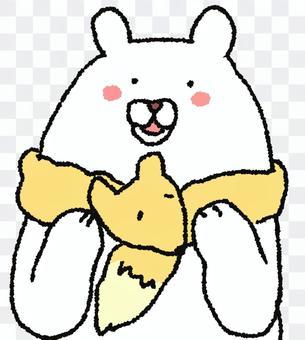 白熊吹嘘豪华领圈