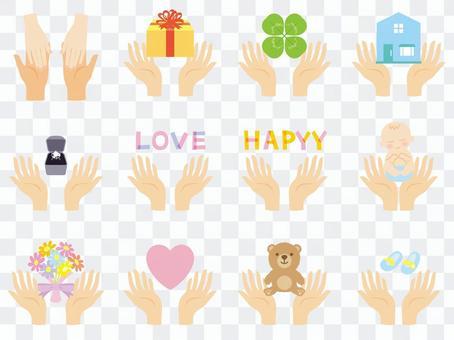 爱和幸福在你的手掌