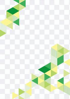 幾何圖案綠色